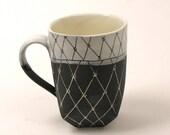 Cup - Black & White Diamond Pattern