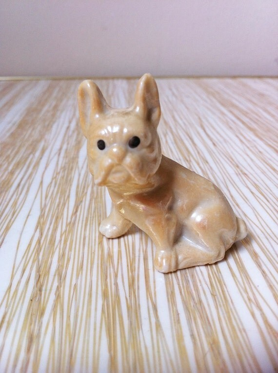 Vintage French Bulldog Figurine Japan