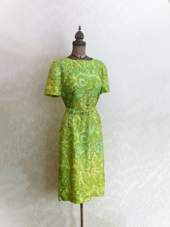 1960s Green Dress with Original Belt
