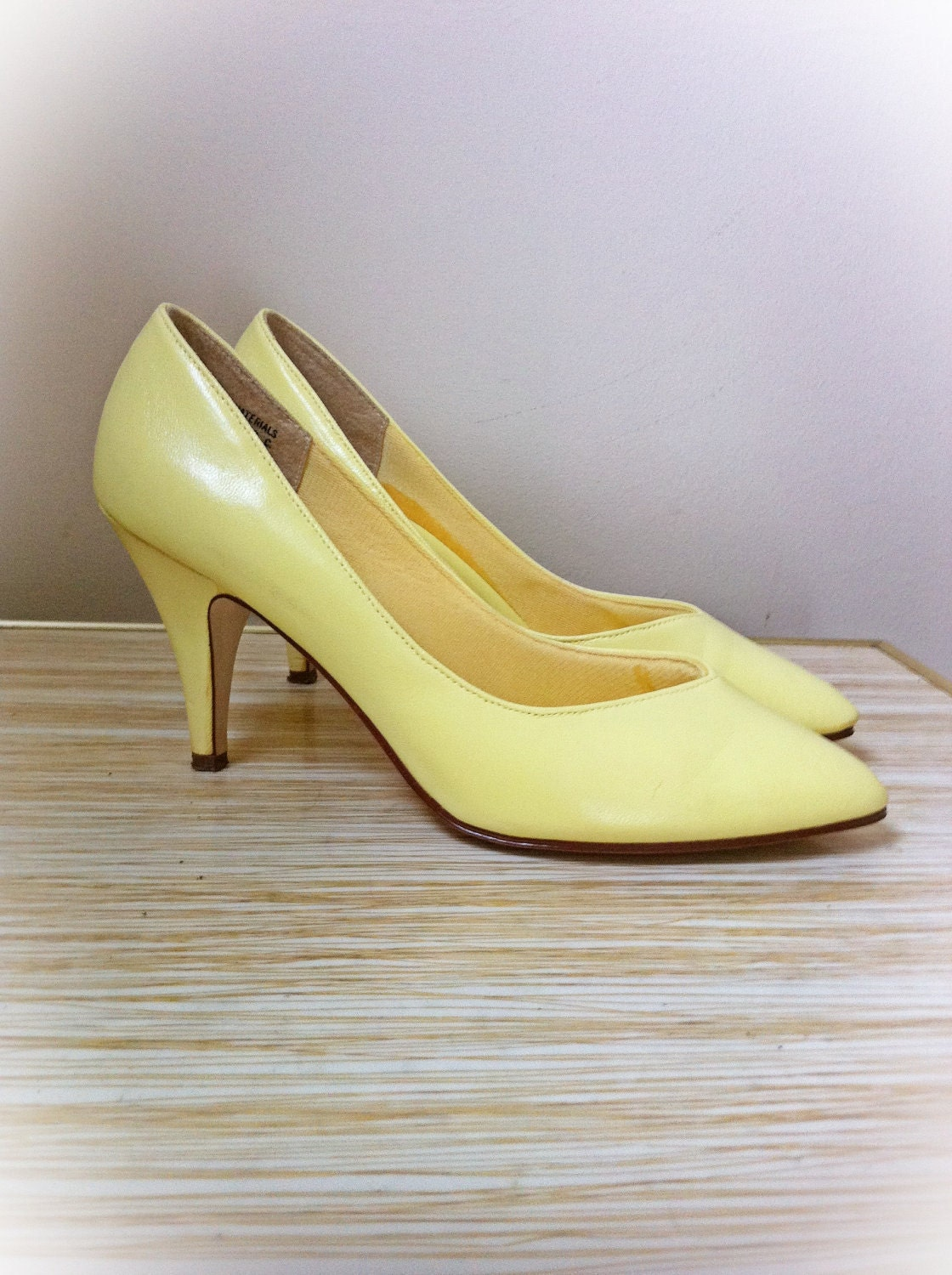 Lemon Yellow Heels - Is Heel
