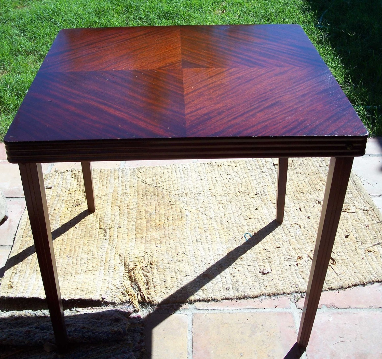 Candlewood Fine Wood Card Table Vintage