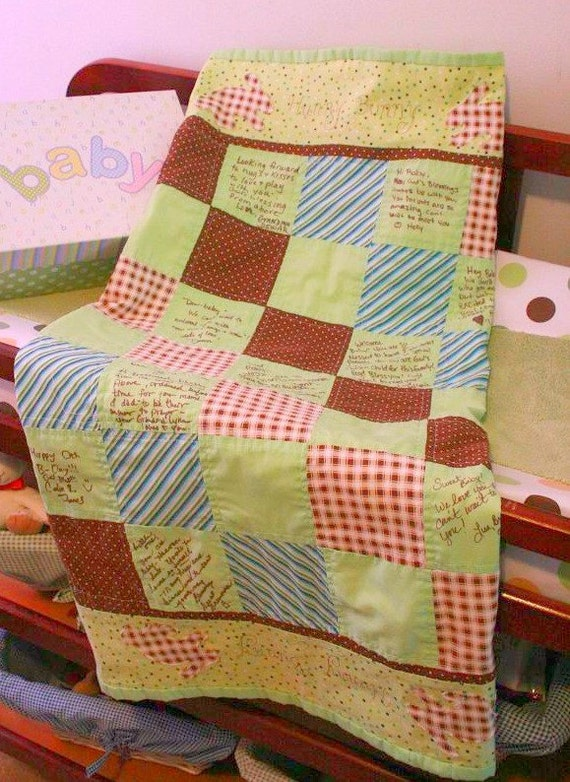 Custom Baby Shower Quilt to Sign
