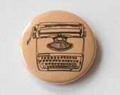 Typewriter Pin (peach)