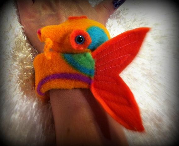 Items similar to koi fish slap bracelet plush cuff for Koi fish plush