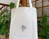 SALE Small Simple Tote Bag for Kindles, Books or Treasures