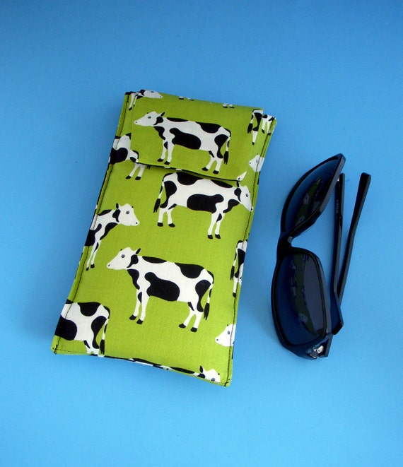 Roomy Sunglasses Case in a Beautiful Design of Cows