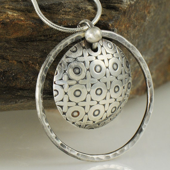 XOXO Hugs and Kisses Sterling Silver Necklace