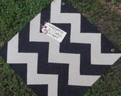 Burlap Chevron Magnetic Bulletin Board - Bold Black - 18x18
