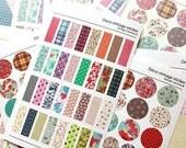 Floral Sticker Seals Planner Scrapbook