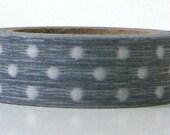 Washi Tape Gray Masking Polka Dot