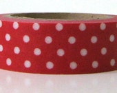 Red Washi Tape Removable Paper