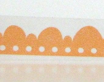 Washi Masking Tape Orange Scallop