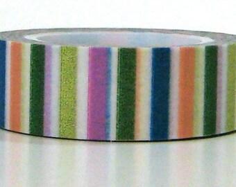 Rainbow Stripe Tape Washi Paper