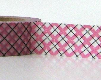 Pink Washi Tape Paper Plaid
