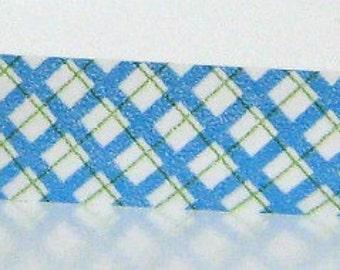 Blue Washi Tape Plaid Paper