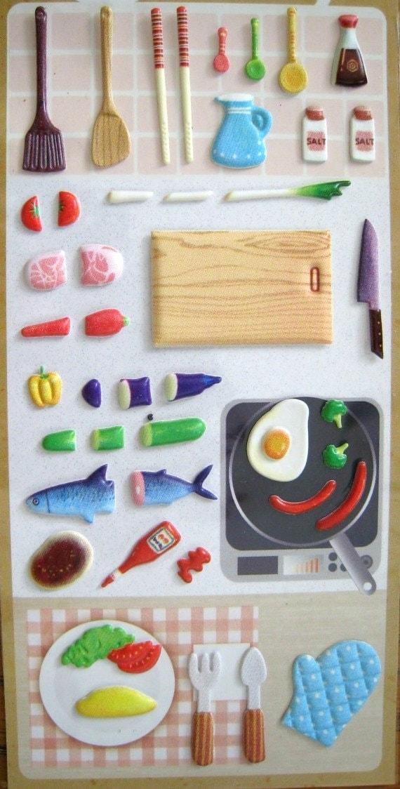 Food sticker cooking scrapbook deco for Scrapbooking cuisine