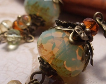 Harvest Earrings Earthy Jewelry Organic Earth Tones Fall Fashion Autumn Harvest Earrings