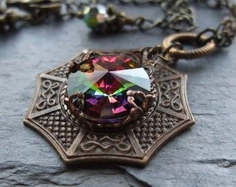 Swarovski Crystal Pendant Vitrail Prism Kaleidoscopic Asian Pendant
