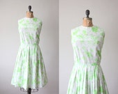 1960s dress - vintage 1960's green field party dress