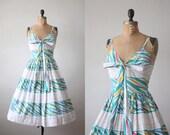 1950's dress - vintage bird feather party dress