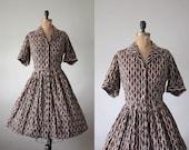 1950s dress - vintage 1950's shirtdress