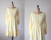 vintage 1970's dress - yellow prairie sundress