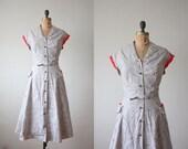 1950s dress - vintage 1950's paisley print day dress