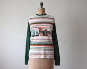 1970s sweater - car ride sweater