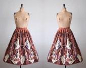 vintage 1950's violinist circle skirt