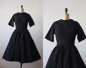 anne fogarty dress - 1950's black wool dress
