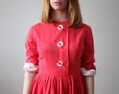 1950s dress - vintage 1950's pink party dress