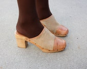 woven leather clogs size 7