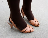 vintage 1970's strappy leather sandals size 6