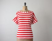 1970's nautical stripe blouse