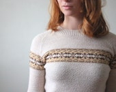 vintage 1970's ski lodge sweater