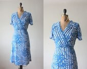 1970s dress - floral wrap dress