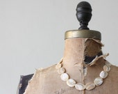 1950's opaline shell necklace