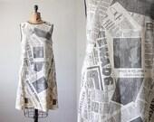 newspaper dress - 1960's paper dress