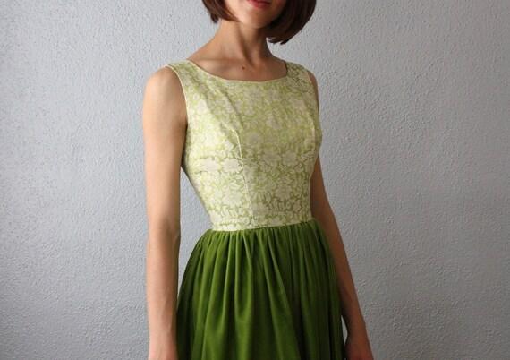 vintage 1960's absinthe party dress