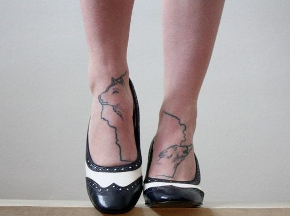 vintage 1960's spectator shoes size 6