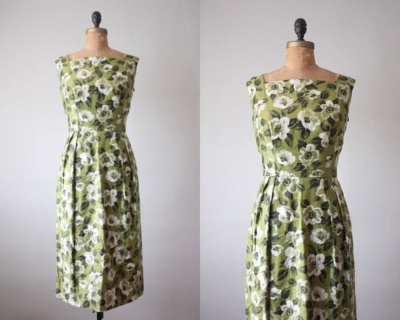 RESERVED. 1940's mossed garden dress