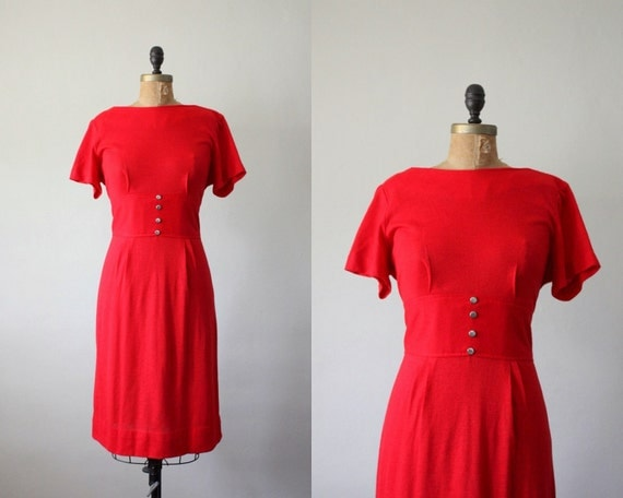 1960's candy apple party dress