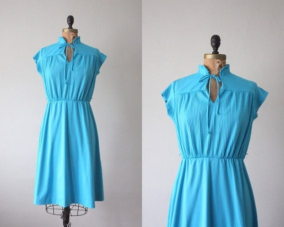 1970's teal day dress
