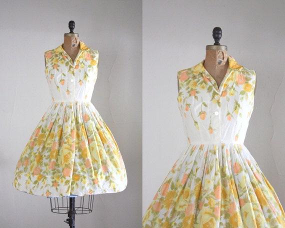 1950s dress - vintage 1950's rosebud cocktail dress