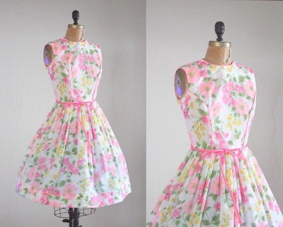 1950's dress - vintage 1950's garden party dress