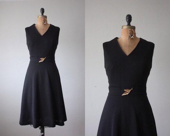 RESERVED. black dress - vintage 1960's classic noir dress