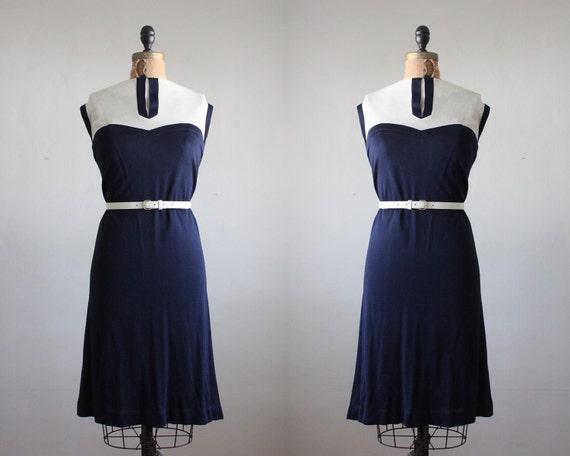 1960s dress - nautical day dress