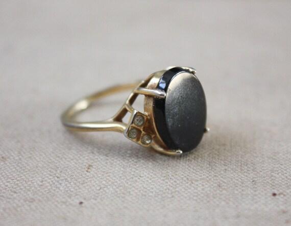 vintage onyx deco ring