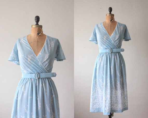 1970s dress - cloud nine wrap dress