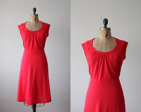 1970's cherry red day dress